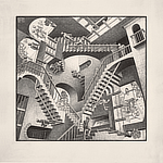 Escher, The Exhibition & Experience, New York, Brooklyn's Industry City, 2018, relativity