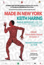 Made in New York, Keith Haring, Paolo Buggiani and co, La vera origine della Street Art, Firenze, Palazzo Medici Riccardi, 2018