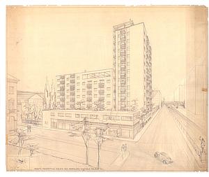 Pietro Lingeri, Via Melchiorre Gioia 28, Milano, Astrazione e costruzione, Triennale Milano
