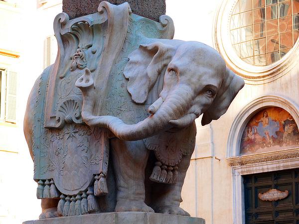 Gian Lorenzo Bernini, Piazza Minerva, Rome, Jens Vilhelm Dahlerup, Elephant Tower, Copenhagen