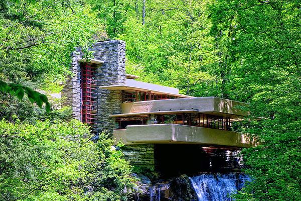 Falling Water, J. Kaufmann House, Frank Lloyd Wright, Bear Run, Mill Run, Pennsylvania