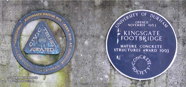 Ove Arup, Kingsgate Footbridge, Durham, England, UK