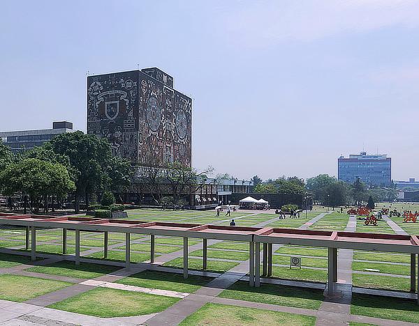 Juan O'Gorman, Gustav Saavedra, Juan Martinez de Velasco, Biblioteca Central de la Ciudad Universitaria, UNAM, Mexico City