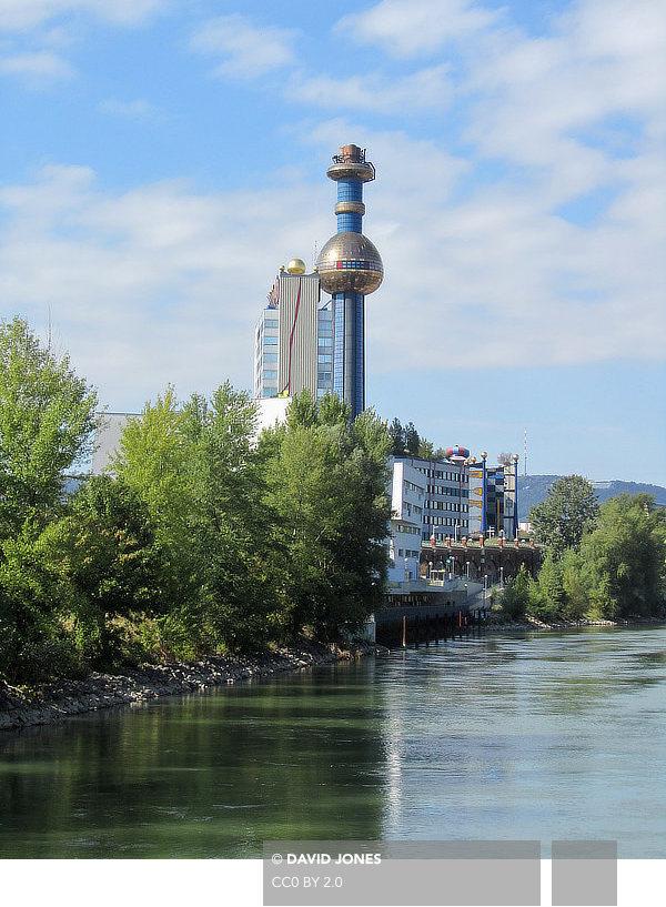 Friedensreich Hundertwasser, Fernwärme Wien, Spittelau, Vienna, Austria