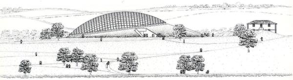 Norman Foster, Foster + Partners, National Botanic Garden of Wales, Llanarthne, Carmarthenshire, Middleton Botanical Gardens, Gardd Fotaneg Genedlaethol Cymru