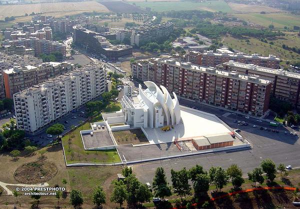 Richard Meier, Dives in Misericordia, Complesso parrocchiale di Dio Padre Misericordioso, Chiesa dell'anno 2000, Roma, Tor Tre Teste, Italy