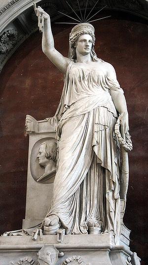 Pio Fedi, Libertà della Poesia, Santa Croce , Firenze, Statue of Liberty, Giovanni Battista Niccolini, Frédéric-Auguste Bartholdi