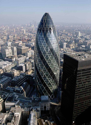 Foster 30 St. Mary Axe Swiss Re Tower The Gherkin London