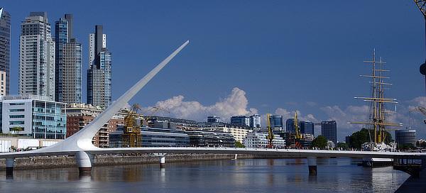 Santiago Calatrava, Puente de la Mujer, Buenos Aires, Argentina
