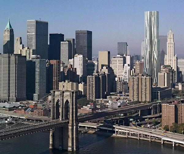 Frank O. Gehry, Gehry Partners, 8 Spruce Street, Beekman Tower, New York, Manhattan, WSP Cantor Seinuk