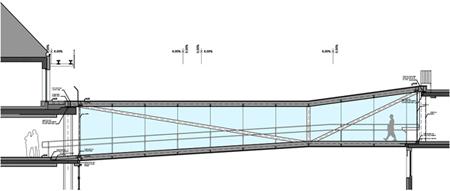 Solid architecture Skywalk Rennweg 44-46