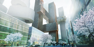 BIG Bjarke Ingels Cross Towers Seoul