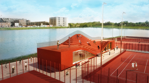 MVRDV, The Couch, Amsterdam, Tennisclub, IJburg