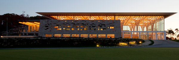 Shigeru Ban Haesley Nine Bridges Golf Club House South Korea