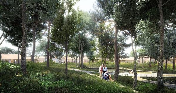 NORD Architects, Alzheimer Village, Dax, France, Champagnat & Gregoire, Groupe Cauros, ACE Ingenierie