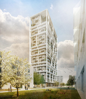 C.F. Møller, Brut Architecture and Urban Design, ABT België NV, Vertical Village, Antwerpen, Flanders, Belgium