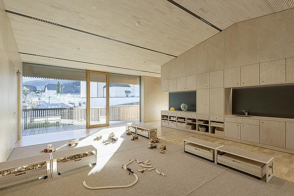 feld72, Kindergarten, Valdaora di Sotto, Niederolang, South Tyrol, Bolzano, Italy