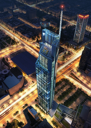 Norman Foster, Foster + Partners, Grant Brooker, Hermanowicz Rewski Architekci, Varso Place Tower, Warsaw, Poland