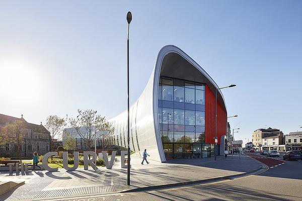 bblur architecture, CZWG Architects, The Curve, Slough, Berkshire, Colorminium, Buro Happold