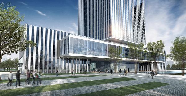 gmp von Gerkan Marg und Partner, Meinhard von Gerkan, China UnionPay Tower, Shanghai, China, sbp schlaich bergermann partner
