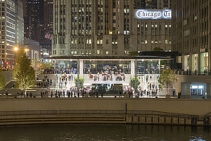 Foster + Partners, Apple Store Michigan Avenue, Chicago, Illinois, Stefan Behling, Jonathan Ive, Angela Ahrendts