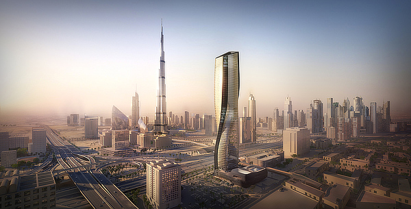UNStudio, Ben van Berkel, Werner Sobek, Wasl Tower, Dubai, Green4Cities, UAE United Arab Emirates