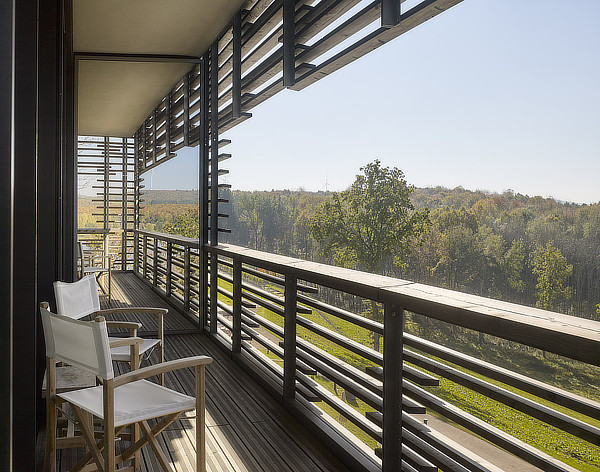 Graft architects, Seezeitlodge Hotel Bostalsee, Gonnesweiler, Saarland, Germany, Knippers Helbig, Ernst Partner Landschaftsarchitekten