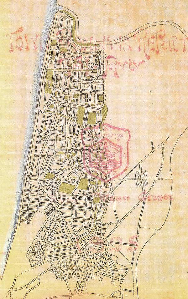 Tel Aviv, Israel, Jaffa, Patrick Geddes, masterplan