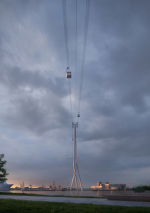 UNStudio, Ben van Berkel, IJbaan Cable Car, Amsterdam, Netherlands, Holland