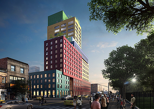 Radio Tower Hotel, MVRDV, Winy Maas, New York, Manhattan, Washington Heights, Stonehill Taylor Architects