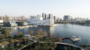 Henning Larsen, Hangzhou Yuhang Opera, China, Buro Happold, Bassinet Turquin Paysage, AECOM