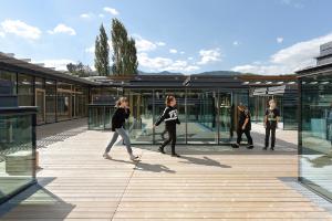 DFA, Dietmar Feichtinger Architectes, Gloggnitz Schulzentrum, School Complex, Austria
