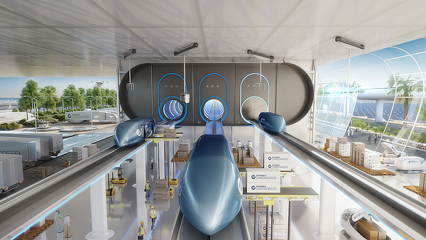 Foster + Partners, DP World Cargospeed, DP World, Virgin Hyperloop One, Dubai, UAE, Stefan Behling