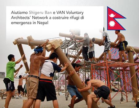 Shigeru Ban, VAN, Voluntary Architects' Network, Nepal earthquake, emergency disaster