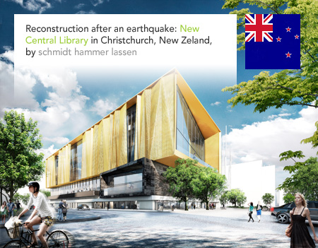 schmidt hammer lassen, New Central Library, Christchurch, New Zeland