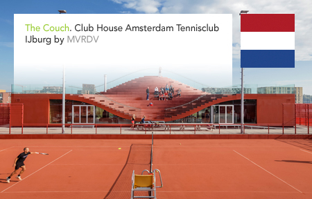 MVRDV, The Couch, Amsterdam, Tennisclub, IJburg