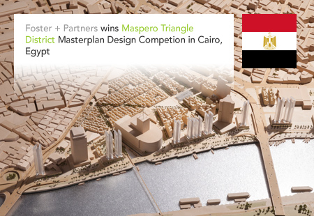 Foster + Partners, Maspero Triangle District, Cairo, Egypt