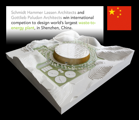 Schmidt Hammer Lassen Architects, Gottlieb Paludan Architects, Waste-to-Energy Plant, Shenzhen, China