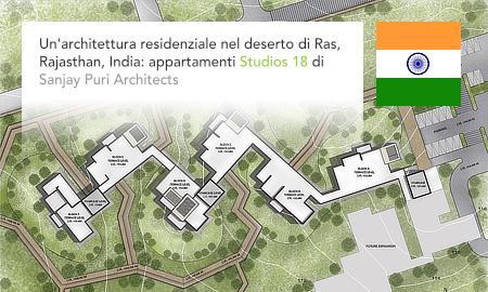 Sanjay Puri Architects, Studios 18 apartments, Ras, Rajasthan, India, Roots Design, Beawar