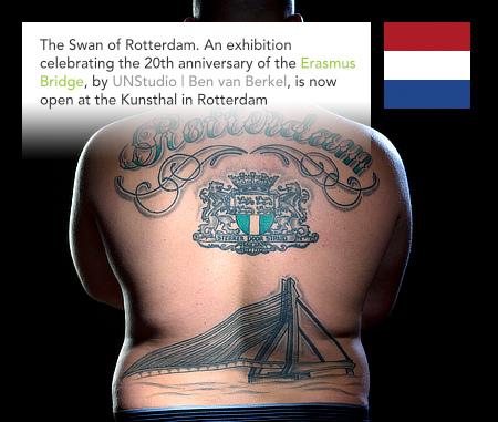 UNStudio, Ben van Berkel, Erasmus Bridge, Swan of Rotterdam, Kunsthal