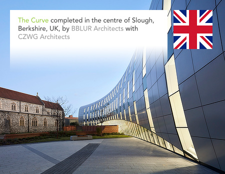 bblur architecture, CZWG Architects, The Curve, Slough, Berkshire, Colorminium, Buro Happold