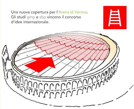 gmp von Gerkan Marg und Partner, sbp schlaich bergermann partner, Arena di Verona, roof, Veneto, Italy