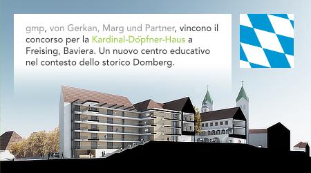 gmp, von Gerkan Marg und Partner, Meinhard von Gerkan, Kardinal-Döpfner-Haus, Freising, Domberg, Bavaria