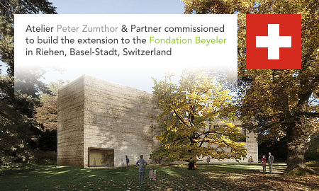 Atelier Peter Zumthor, Fondation Beyeler, Haus für Kunst, House for Art, Riehen, Basel-Stadt, Switzerland