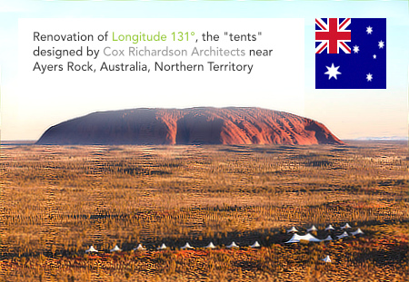 Longitude 131°, Cox Richardson Architects, Ayers Rock, Northern Territory, Australia, Tract Consultants, Robert Bird