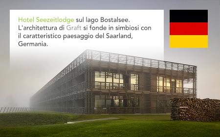 Graft architects, Seezeitlodge Hotel Bostalsee, Gonnesweiler, Saarland, Germany, Knippers Helbig, Ernst Partner Landschaftsarchitekten