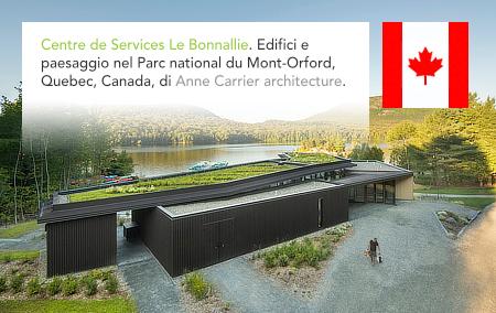 Anne Carrier architecture, Centre de Services Le Bonnallie, Mont Orford, Lac Stukely, Quebec, Canada, Sépaq