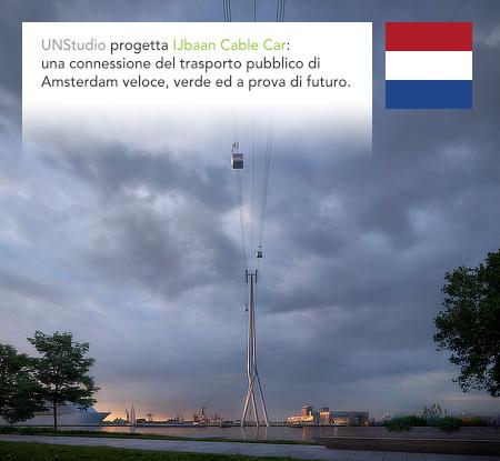 UNStudio, Ben van Berkel, IJbaan Cable Car, Amsterdam, Netherlands, Holland