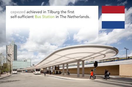 architectenbureau cepezed, Bus Station, Tilburg, Netherlands, IMd Raadgevende Ingenieurs, Atelier Quadrat, Nelissen Ingenieursbureau