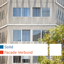 Solid architecture Facade Verbund headquarters  Vienna